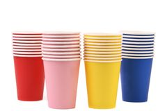 Colorful paper coffee cup. Stock Image