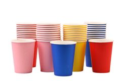 Colorful paper coffee cup. Royalty Free Stock Photo