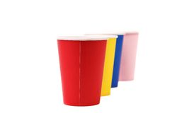 Colorful paper coffee cup. Stock Photography