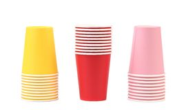 Colorful paper coffee cup. Stock Images