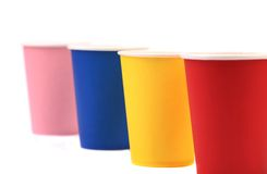 Colorful paper coffee cup. Royalty Free Stock Photography
