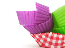 Colorful paper cup cake cases Royalty Free Stock Image