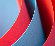 Colorful paper curve Stock Image