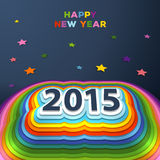 2015 colorful paper decor. Vector illustration of 2015 colorful paper decor stock illustration