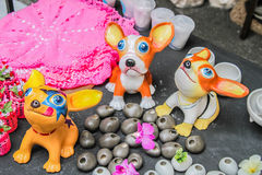 Colorful paper dogs Stock Image