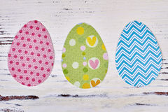 Colorful paper Easter eggs. Royalty Free Stock Photos