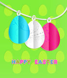 Colorful paper eggs. Stock Images