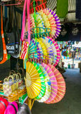 Colorful Paper Fan Souvenirs Royalty Free Stock Photography