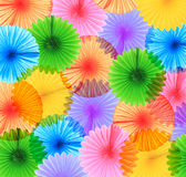 Colorful paper fans Royalty Free Stock Photos