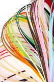 Colorful paper filigree strips Royalty Free Stock Image
