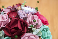 Colorful Paper Flower in detail Stock Photography