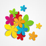 Colorful paper flowers Royalty Free Stock Photo