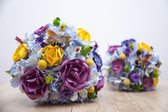 Colorful Paper Flowers - Bride bouquet Royalty Free Stock Photo