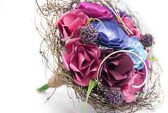 Colorful Paper Flowers - Bride bouquet Royalty Free Stock Photography