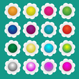 Colorful paper flowers. 