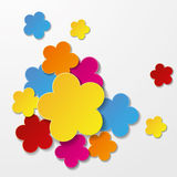 Colorful Paper Flowers Stock Image