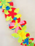 Colorful paper flowers royalty free stock photos