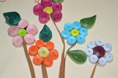 Colorful paper flowers Royalty Free Stock Photography