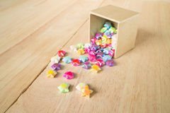 colorful of paper fold christmas stars Stock Images