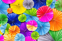 Colorful paper folded background Royalty Free Stock Photos