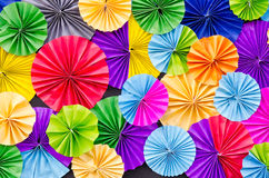 Colorful paper folded background Stock Image