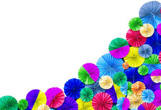 Colorful paper folded on white Royalty Free Stock Photography