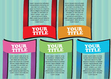 Colorful Paper folding Vector Layout Design Royalty Free Stock Photos