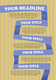 Colorful Paper folding Vector Layout Design Stock Photography