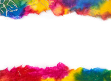 Colorful paper frame on top and bottom with blank Royalty Free Stock Photo
