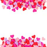 Colorful paper heart frame Royalty Free Stock Photo