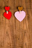 Colorful paper heart Stock Images
