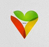 Colorful paper heart modern template Royalty Free Stock Image