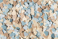 Colorful paper heart shapes background Royalty Free Stock Images