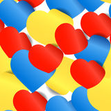 Colorful paper hearts Royalty Free Stock Photo