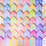 Colorful Paper Houses Royalty Free Stock Image
