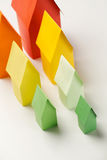 Colorful Paper Houses - Top View Royalty Free Stock Image
