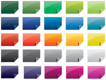 Colorful paper icon set Royalty Free Stock Images