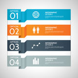 Colorful Paper Infographic Option Background Stock Photo