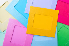 Colorful paper instant photo frames Royalty Free Stock Image