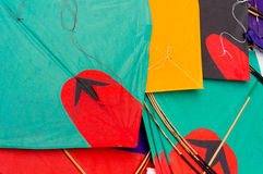 Colorful paper kites in India Stock Images