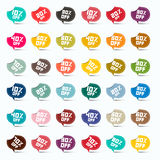 Colorful Paper 1Labels Stock Photos