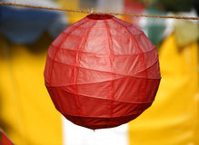Colorful Paper Lantern. Chinese red paper lantern against colorful background Stock Photography