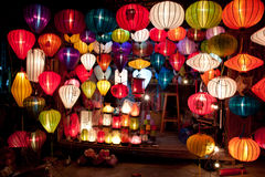 Colorful paper lanterns Royalty Free Stock Photos