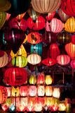 Colorful paper lanterns Royalty Free Stock Images