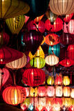 Colorful paper lanterns Royalty Free Stock Photo