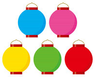 Colorful paper lanterns Stock Image
