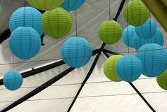 Colorful paper lanterns Stock Images