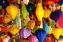 Colorful paper lanterns Royalty Free Stock Image
