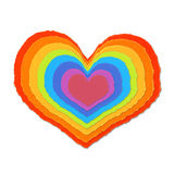 Colorful paper love Royalty Free Stock Photos