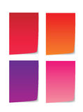 Colorful paper for message Stock Image